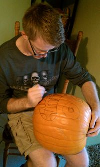 Halloween, movie, carving 008