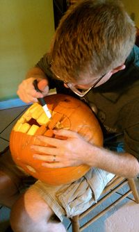 Halloween, movie, carving 017
