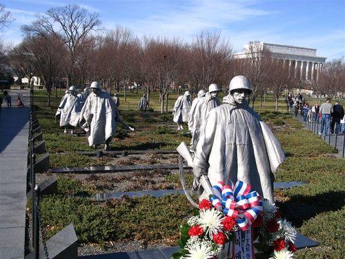 Korean War Memorial Soldiers
